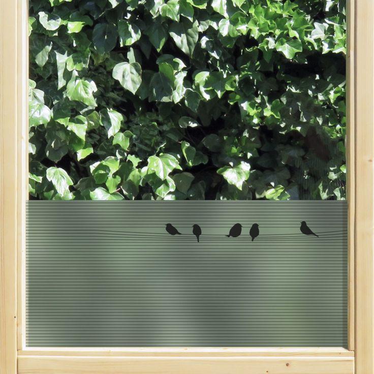 statische raamfolie • Jaloezie met vogels | statische raamfolie | Uniquewinkel