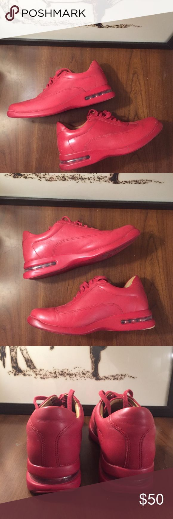 Cole Haan Nike Air Conner Fashion Sneaker (8.5) - Leather - Leather upper, leather lining - Rubber Sole - Lace up - Nike Air Technology - Sport-inspired design Cole Haan Shoes Sneakers