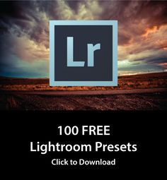 I'm sharing my own collection of 100 Free Adobe Lightroom Presets. >>>> REALLY??? THANK YOU