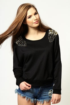 Lola Embellished Shoulder Sweatshirt