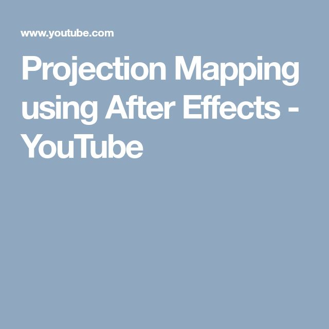 3D Projection in After Effects - Tutorial on Vimeo