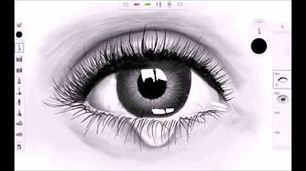 sketchbook pro speed painting crying eye