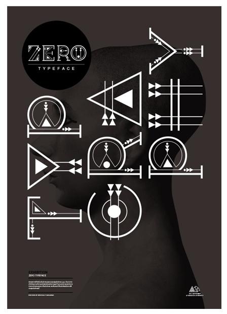 Typography Poster Zero #typography #poster #layout