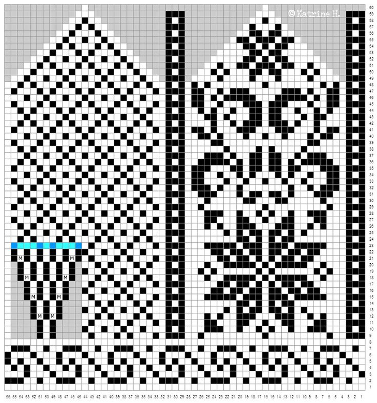 Selbuvott i ny-gammel design: Klassisk stjerne med blad-dekor ♥ Skal strikke disse til min bror, dvs. i herrestørrelse, så jeg p...