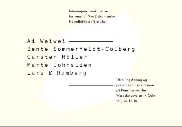 Utstilling: Kunstprosjektet i det nye Deichmanske bibliotek i Bjørvika