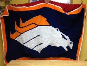 Denver Broncos Nfl Afghan Crochet Graph Pattern By