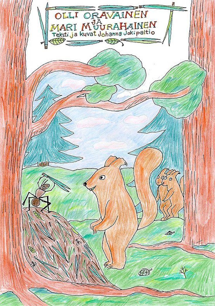 Olli Oravainen ja Mari Muurahainen -satukirja. Tarina koostuu neljästä osasta, joissa tutustumme mm. hyönteisiin, muurahaisten yhteiskuntaan, pesään sekä elinkaareen. Voit tulostaa valmiin satukirjan tai värittää oman version!