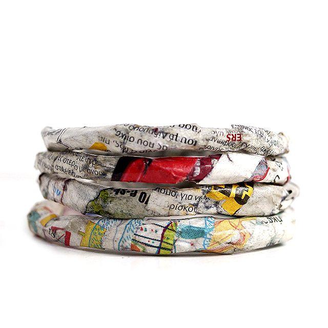 """""""Paper bracelets"""" Anna Spathari"""