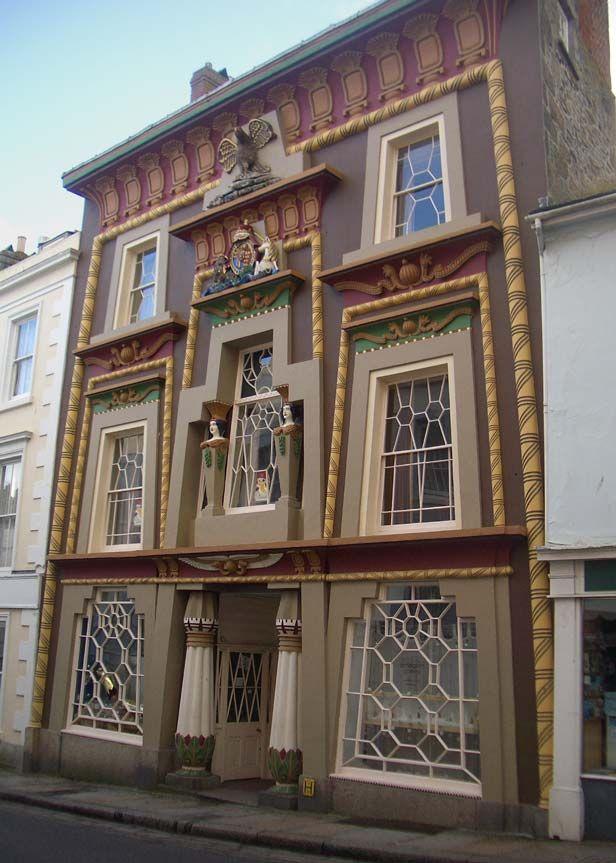 the egyptian house, penzance, cornwall