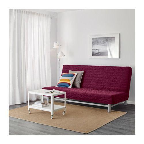 Chaise Sofa BEDDINGE L V S zitsslaapbank Knisa cerise Foam MattressMattress Covers Sofa IdeasSofa BedDiy