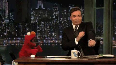Jimmy & Elmo are so cute together    #elmo, #jimmy-fallon
