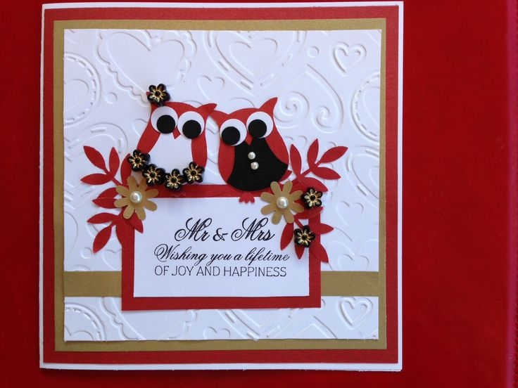 Stampin' Up Owl Punch Wedding Card