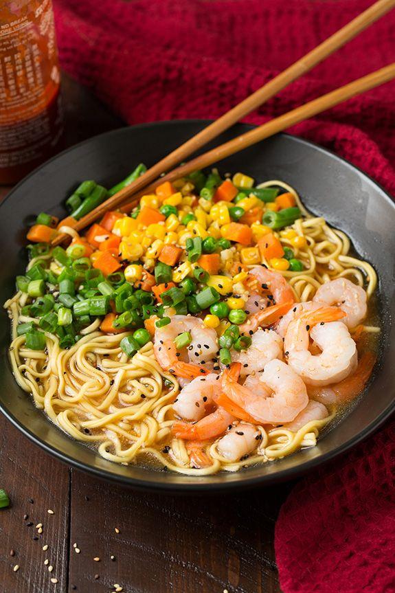 Easy Shrimp and Veggie Miso Ramen - Cooking Classy #RAOHRamen #spon