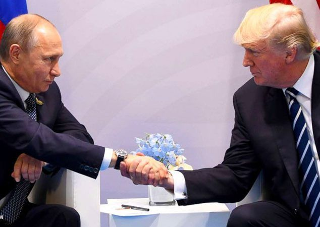 PEACE THROUGH STRENGTH: How refreshing it was, for the first time in recent memory, to see America dealing with Russia from a position of strength instead of weakness. President Donald Trump said it was 'an honor' to meet Russian President Vladimir Putin. Putin told him he was 'delighted.' And with that, the dance was on. #MAGA http://www.nowtheendbegins.com/face-off-trump-putin-finally-meet-g20-summit-handshake-heard-round-world/