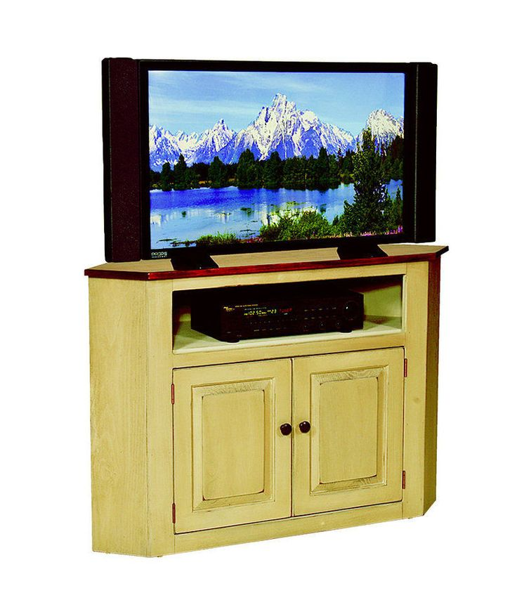 Custom Finished Maple Corner TV Television Stand Center Console Cabinet Amish