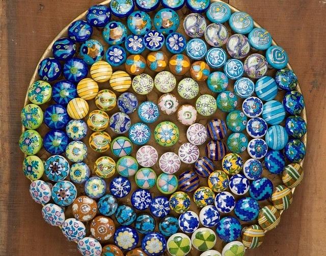 Neerja-Blue-Pottery-Knobs,Jaipur blue pottery