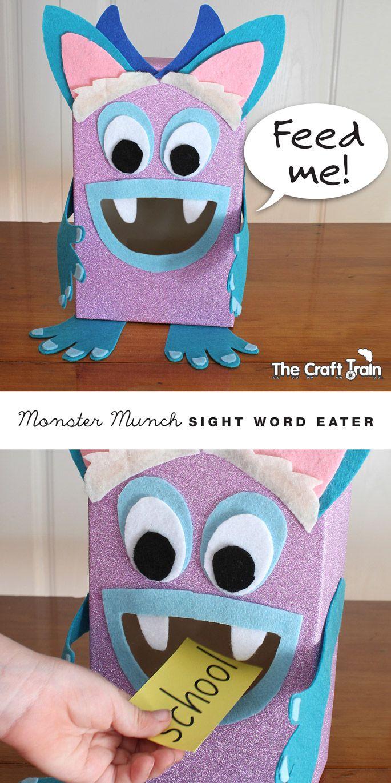 Monster munch sight word eater craft