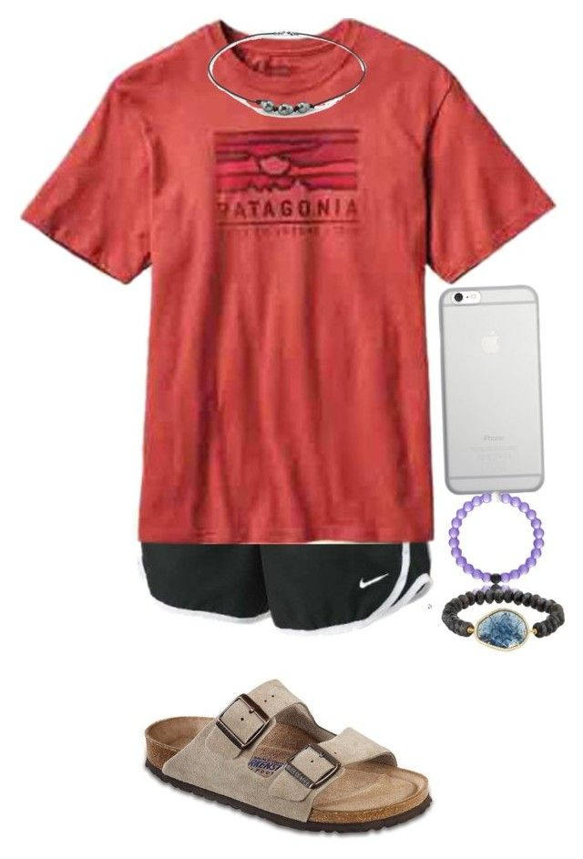 """Lake:)"" by sjkish on Polyvore featuring NIKE, Patagonia, Birkenstock, Native Union and Tai"
