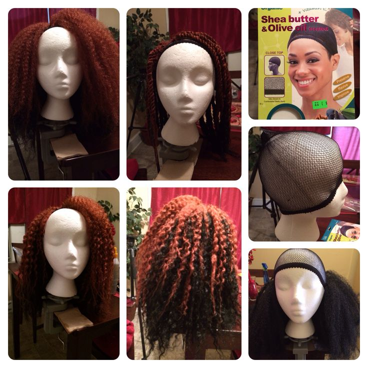 Natural hair wig. Crochet with Marley hair. Done by me.