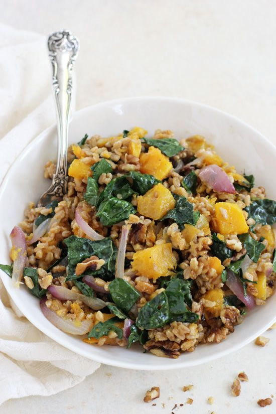 Filled with tender butternut squash, kale and crunchy walnuts, this ...