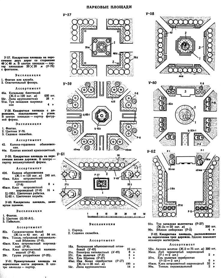 Проектирование площадей в парке