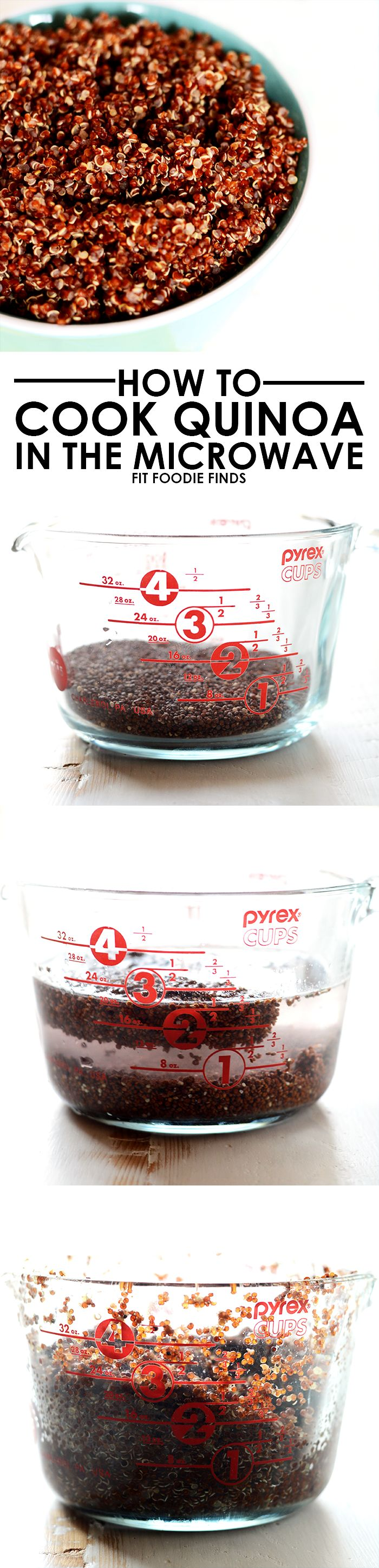 Kitchen Hack: How to Cook Quinoa in the Microwave - amazing! So going to try this when I next cook it.