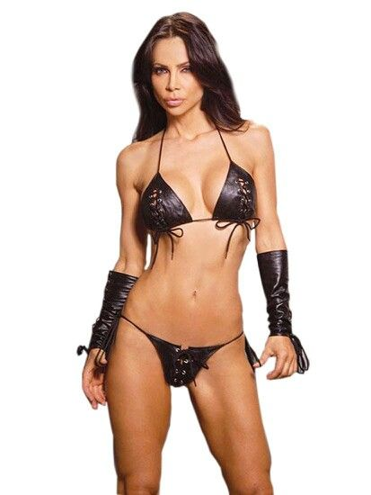 Black Leather Lingerie 106
