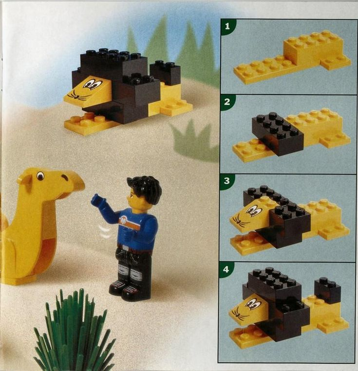 Thema jungle / oerwoud: lego leeuw
