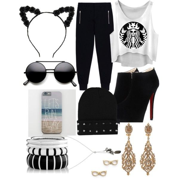 Goth by royalty304 on Polyvore featuring polyvore, fashion, style, McQ by Alexander McQueen, Jose & Maria Barrera, Banana Republic and Kate Spade