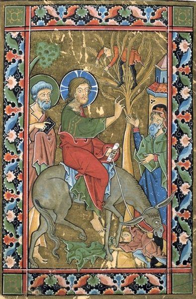 PSAUTIER 13° L'entrée du Christ à Jérusalem avec Zachée sur son arbre.