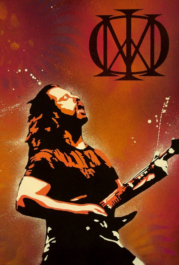 John Petrucci from Dream Theater. Artist: David Gully