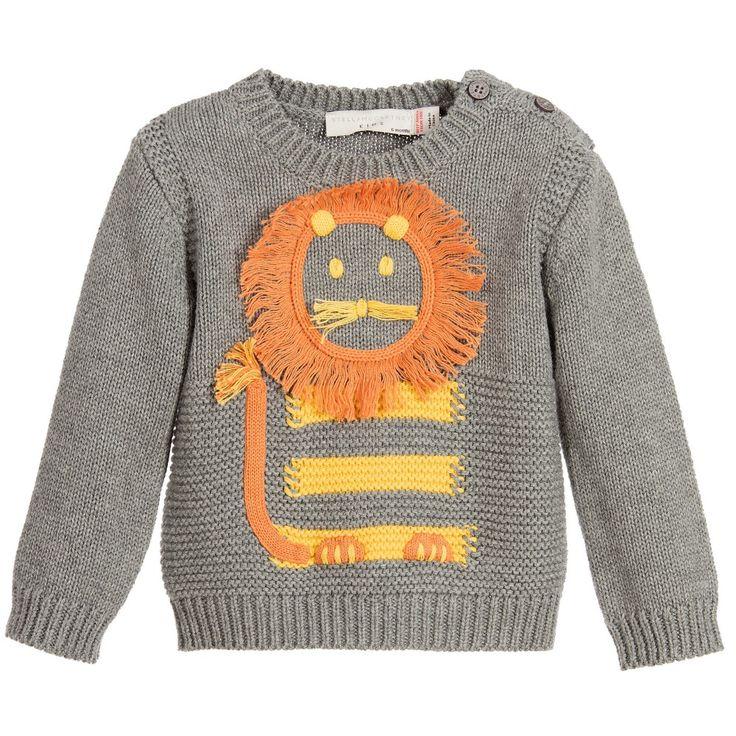 Stella McCartney Kids Baby Grey 'Ira' Sweater with Cotton and Cashmere at Childrensalon.com
