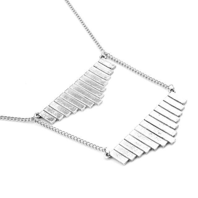 2016 Новый Дизайн Кулон Ожерелья Посеребренная Классический Геометрическая Форма Модные Колье для женщин ювелирные изделия