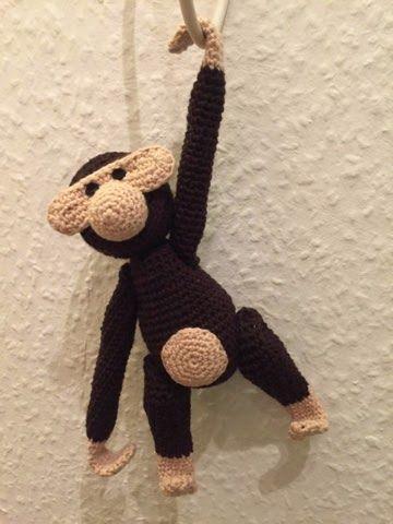The purple yarn basket : Hæklet abe