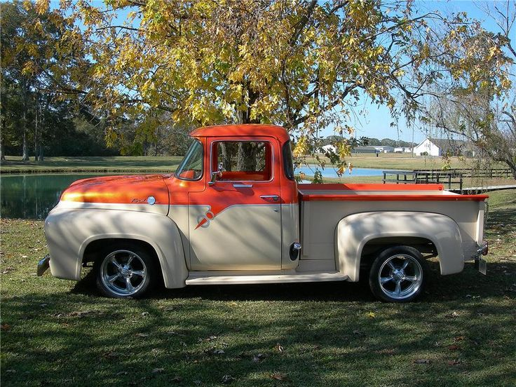 1956 ford f 100 custom pickup trucks pinterest nice for Garage ford nice