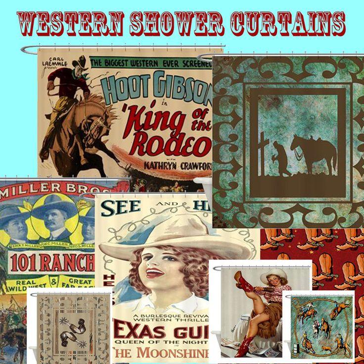 western shower curtain