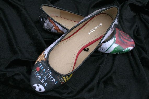 Phantom of the Opera Flats Classic Literature by LeadFootLucy, $50.00 I MUST GET THESE!