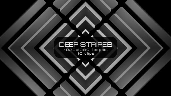 Deep Stripes Video Animation | 10 clips | Full HD 1920×1080 | Looped | Photo JPEG | Can use for VJ, club, music perfomance, party, concert, presentation | #black #deep #dynamic #edm #loop #monochrome #moving #music #shape #slow #solid #stripes #techno #vj #white