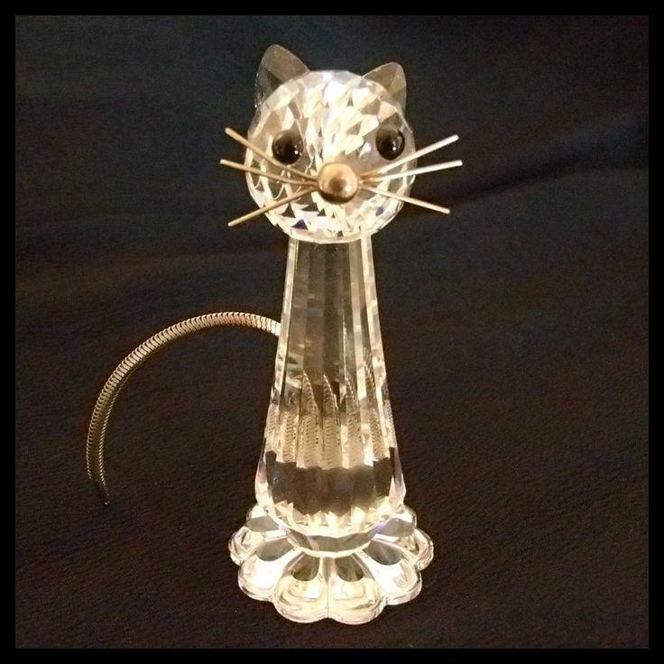 Swarovski Cat Figurine Retired Swarovski Figurines Cats