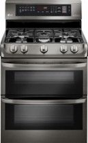 LG 6.9 Cu. Ft. Self-Cleaning Freestanding Double Oven Gas Range with ProBake Convection Black LDG4315BD - Best Buy