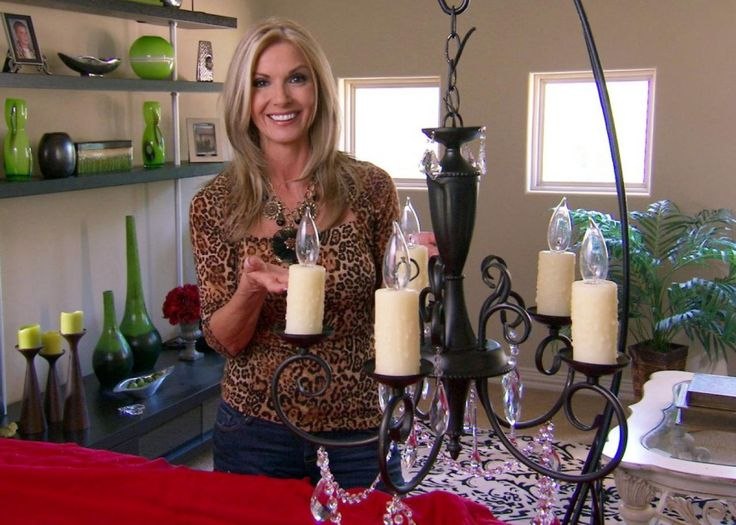 """Designer Donna Moss, of HGTV's """"Donna Decorates Dallas,"""" shows how to give a drab, dated chandelier a custom faux-antique look."""