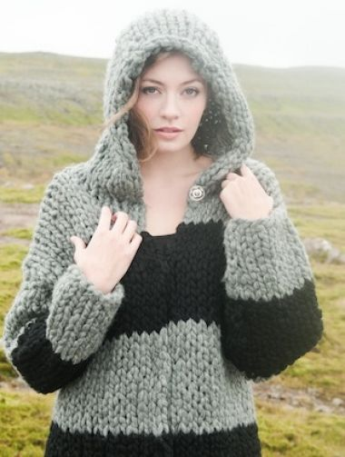 The Island Wool Company- Faroese By Design - Nordic By Nature - Hooded Cardigan