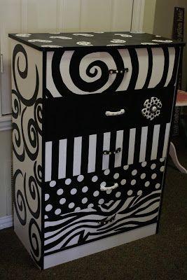 jjSparkles: Black & White Dresser {FOR SALE}