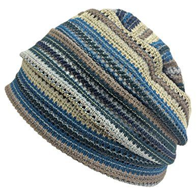 63222133fe1a02 Casualbox Charm Crochet Beanie Hat Summer Mesh Tie Dye Fashion Skull Cap  Unisex Cool Review