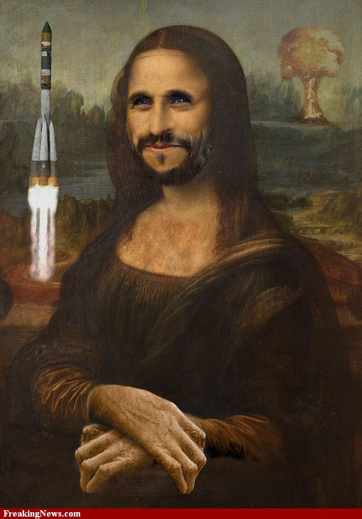 Mahmoud Ahmadinejad as Mona Lisa
