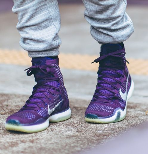 quality design f85e1 c3203 Nike Kobe X Elite  Grand Purple    Nike Shoes   Pinterest   Skate wear,  Street wear and Urban outfits