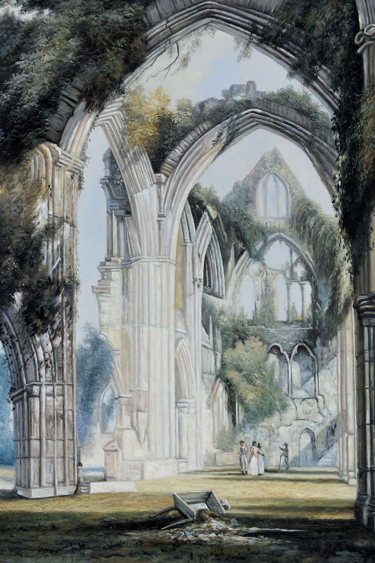 Joseph William Turner - Tintern Abbey; haunting...