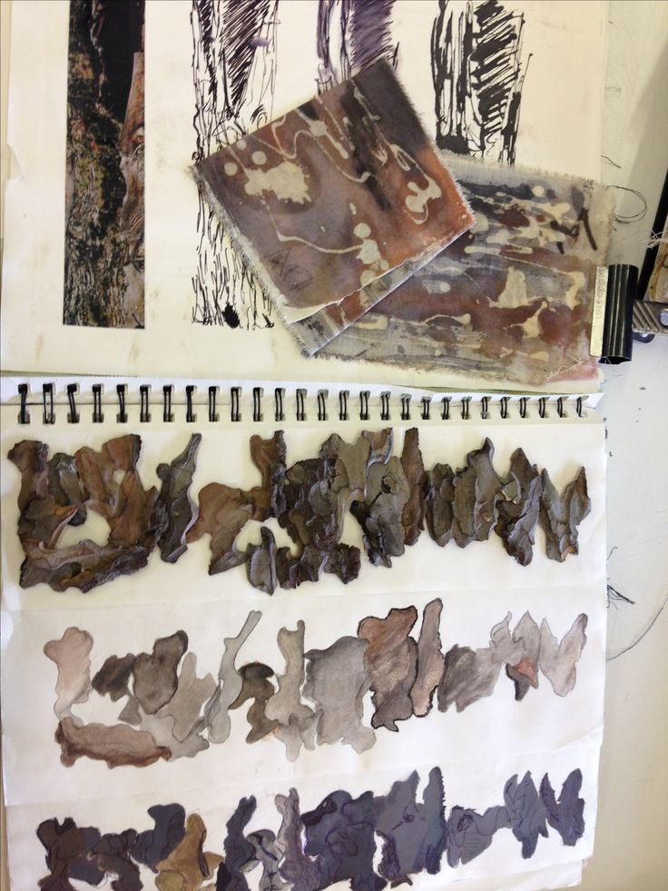 Textiles Sketchbook - surface pattern & texture explorations; art student sketch book