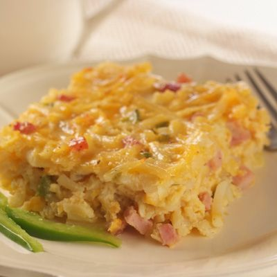 Try this versatile Hash Brown Casserole as a main or side dish for breakfast or brunch. This recipe calls for bacon, but it is a great recipe for leftover ham. If your family likes spice, try adding in some pepper jack cheese or crushed red pepper flakes.
