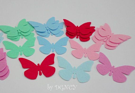 24 pcs die cut felt butterflyDIYCraft suppliesLarge Felt by DGNCY